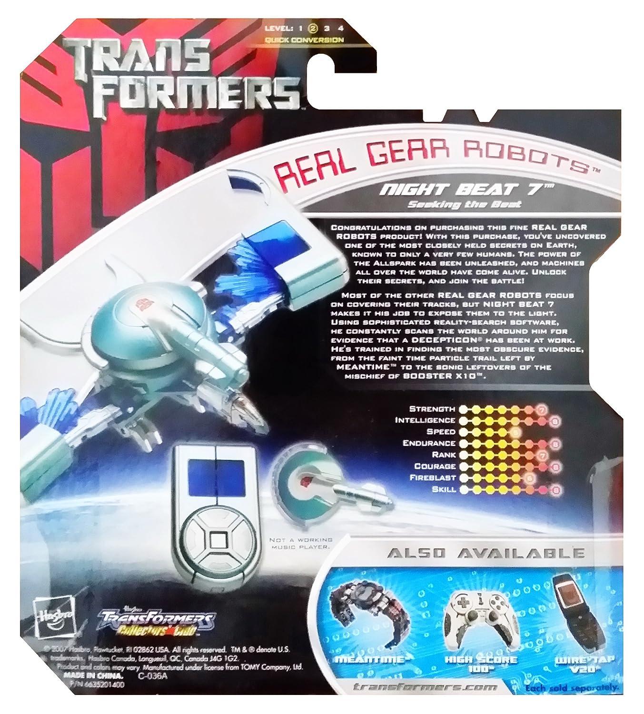 Transformers Real Time Robots Action Figure Autobot Night Beat 7 Seeking the Beat Hasbro 83347