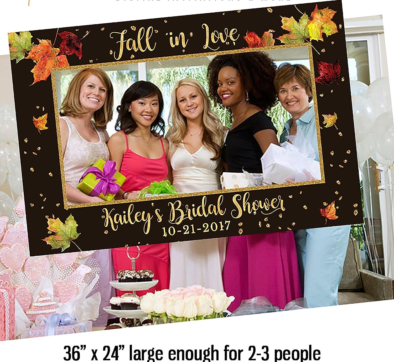 Amazon.com: Fall Bridal Shower Photo Booth Frame, Corrugated plastic ...