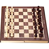 Jaques Chess Sets - Complete Hand Carved Genuine Jaques Chess Set with Folding Chess Board & Case - Jaques of London - Quality Chess Since 1795