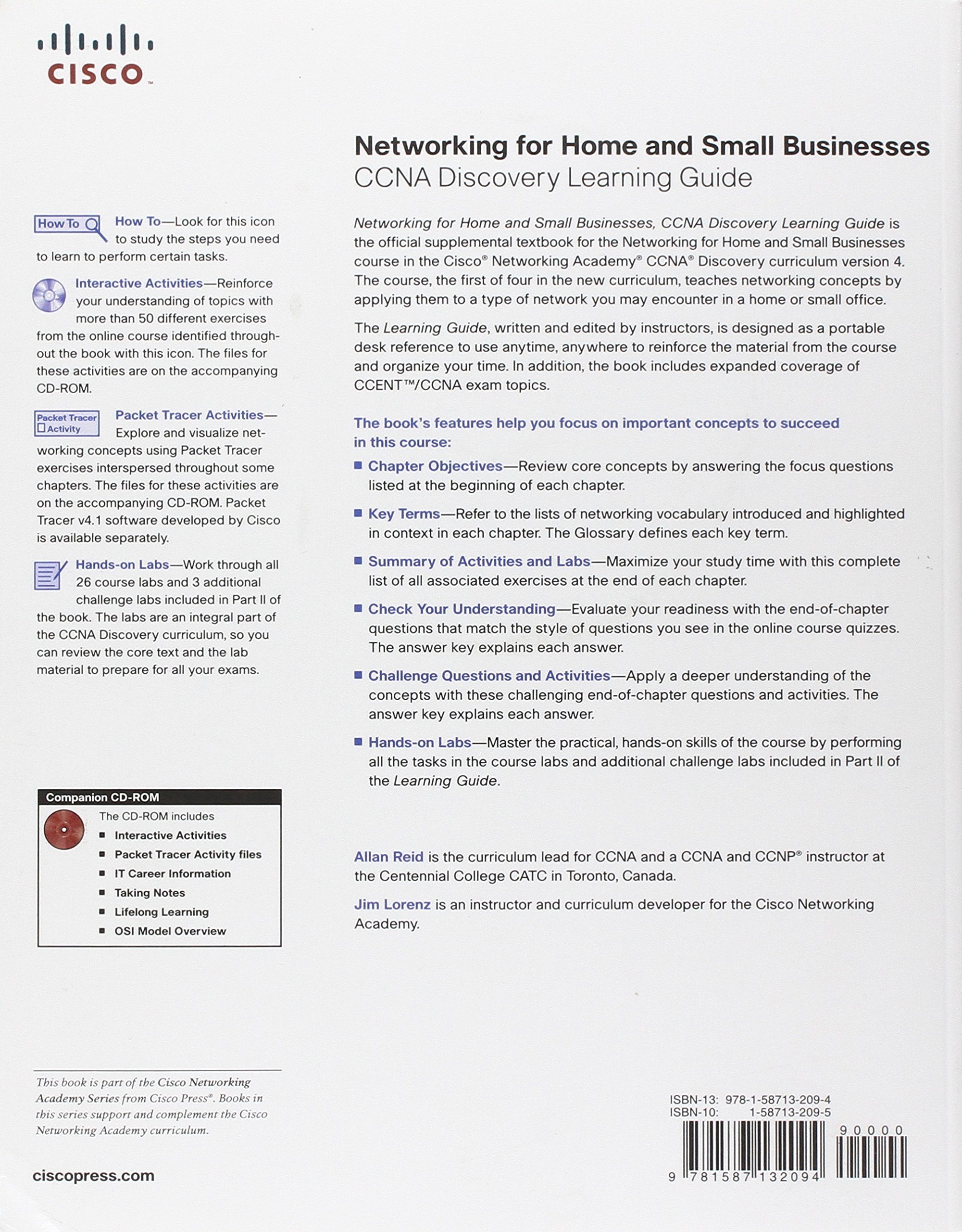 Networking for Home and Small Businesses, CCNA Discovery Learning