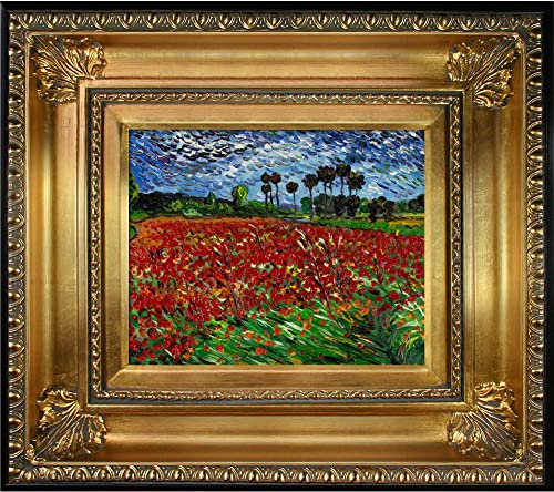 La Pastiche Overstockart Vg1090-Fr-650G8X10 Van Gogh Field of Poppies with Regency Gold Frame, Gold Finish