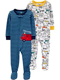 c913dd1f60 Carter s Boys  Toddler 2-Pack Cotton Footed Pajamas