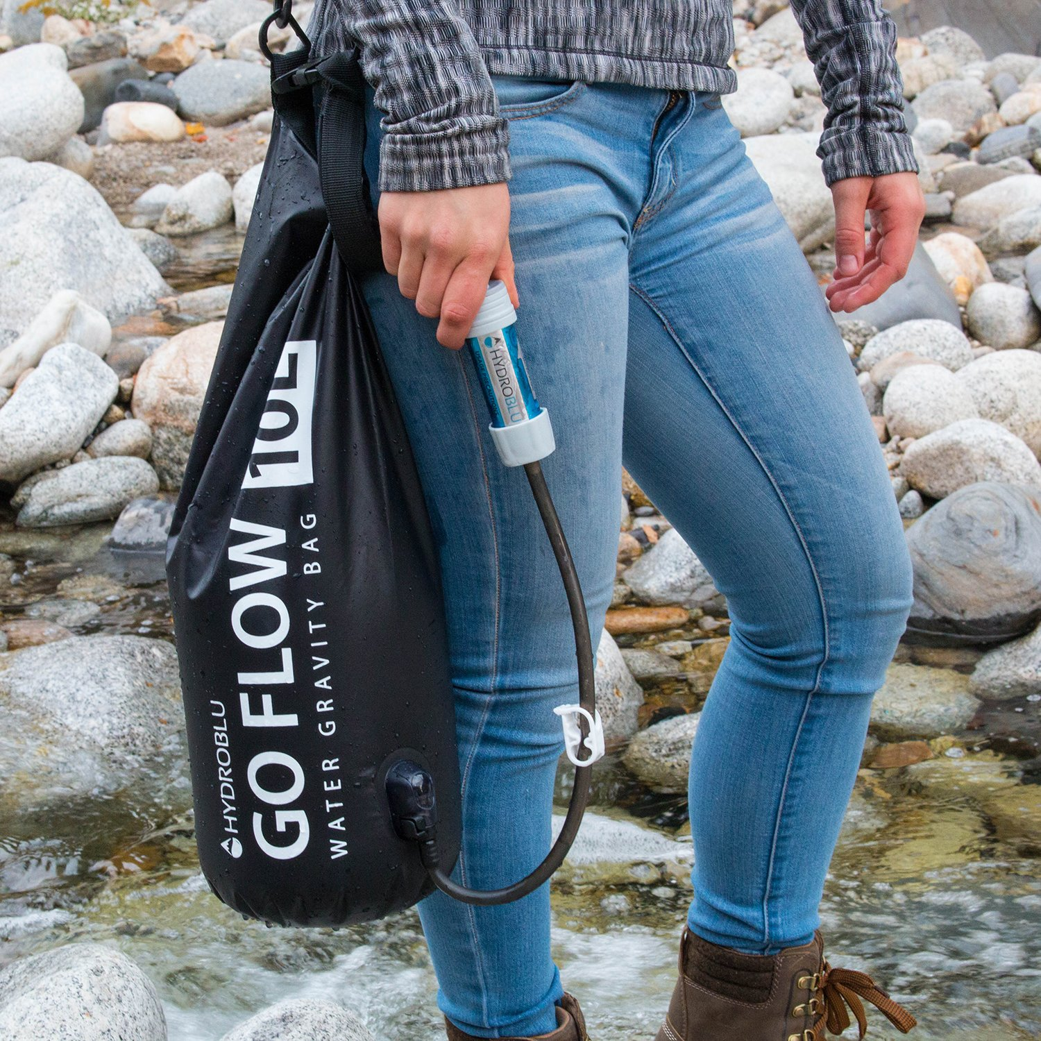 HydroBlu Go Flow Gravity Water Filter Bag with Versa Flow Water Filter Kit by HydroBlu (Image #6)