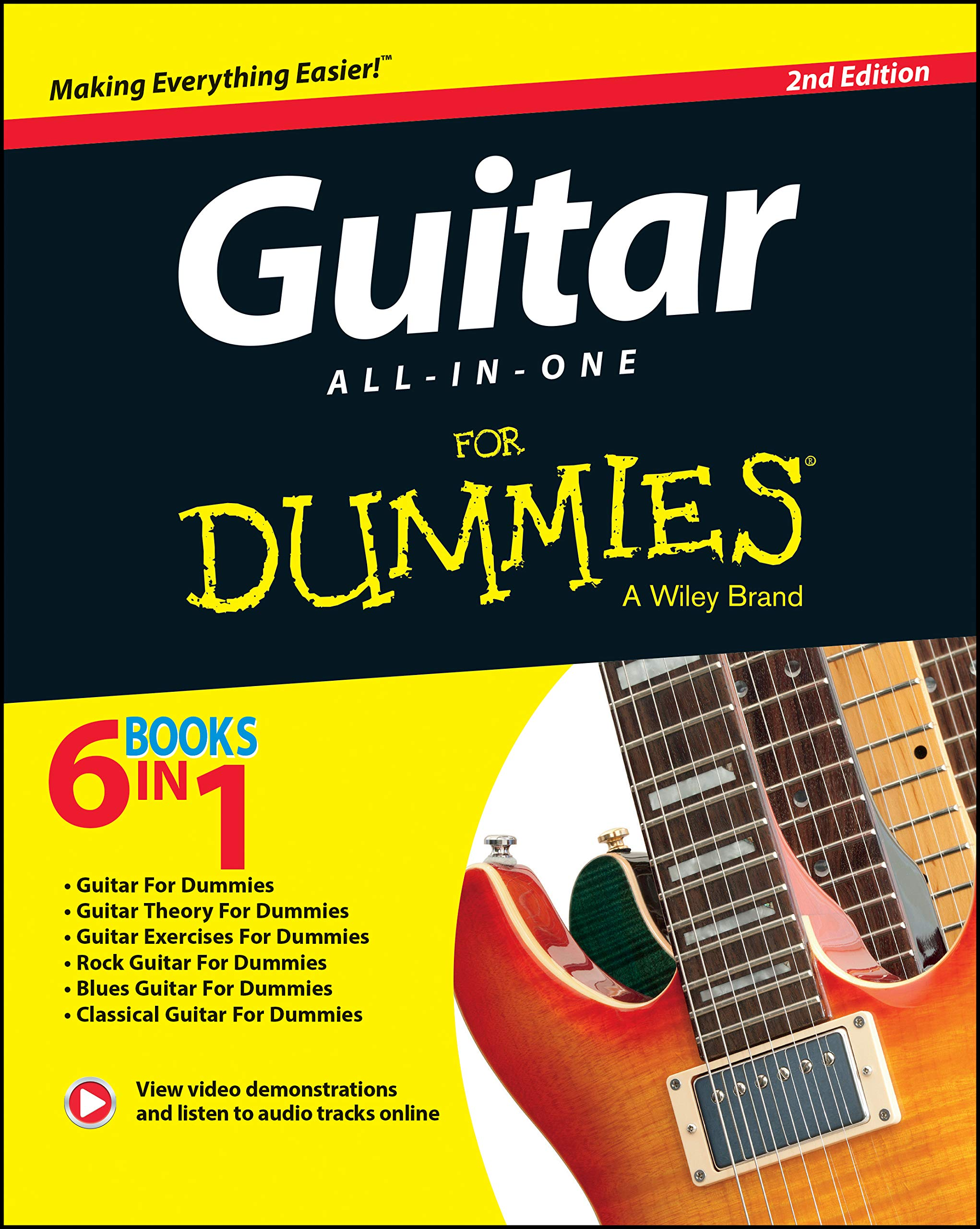 Guitar All-In-One For Dummies: Book + Online Video & Audio ...