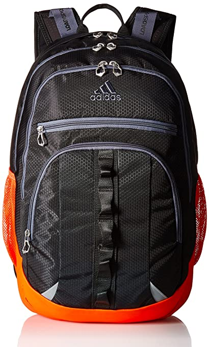 adidas 975655 Prime III Backpack, Black/Blaze Orange/Onix, One Size