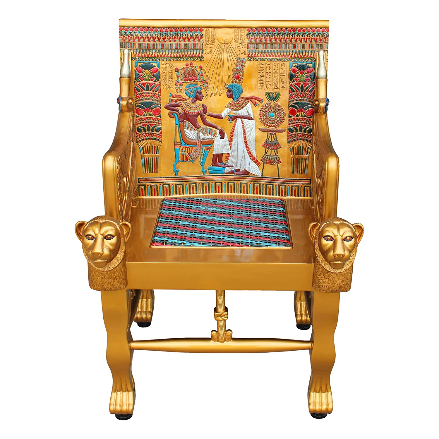 Amazon Design Toscano King Tutankhamen s Egyptian Throne Arm