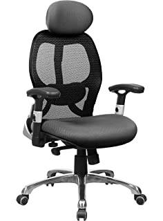 Office Factor Ergonomic High Back Executive Managers Mesh Chair Adjustable  Arms In And Out And Up