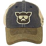 a7fdaa9622280 Galleon - Islanders Pig Face Trucker Mesh Snapback Vintage Feel Hat ...