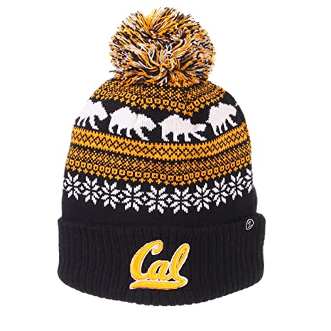 94529d493f8b8 Image Unavailable. Image not available for. Color: Cal Bears Official NCAA  Carousel Cuffed Knit Beanie Sock Hat by Zephyr 694282