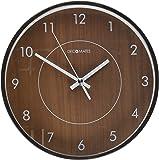 DecoMates Non-Ticking Silent Wall Clock, Wood Film