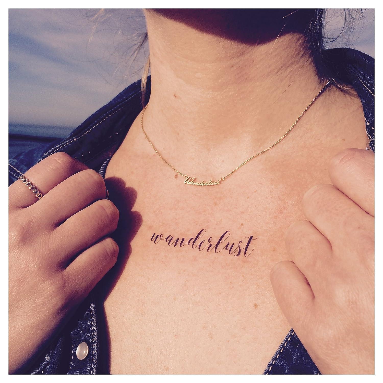 Tempo rary Tattoo - Wanderlust, mando a WEH, puntos - Tatuajes ...