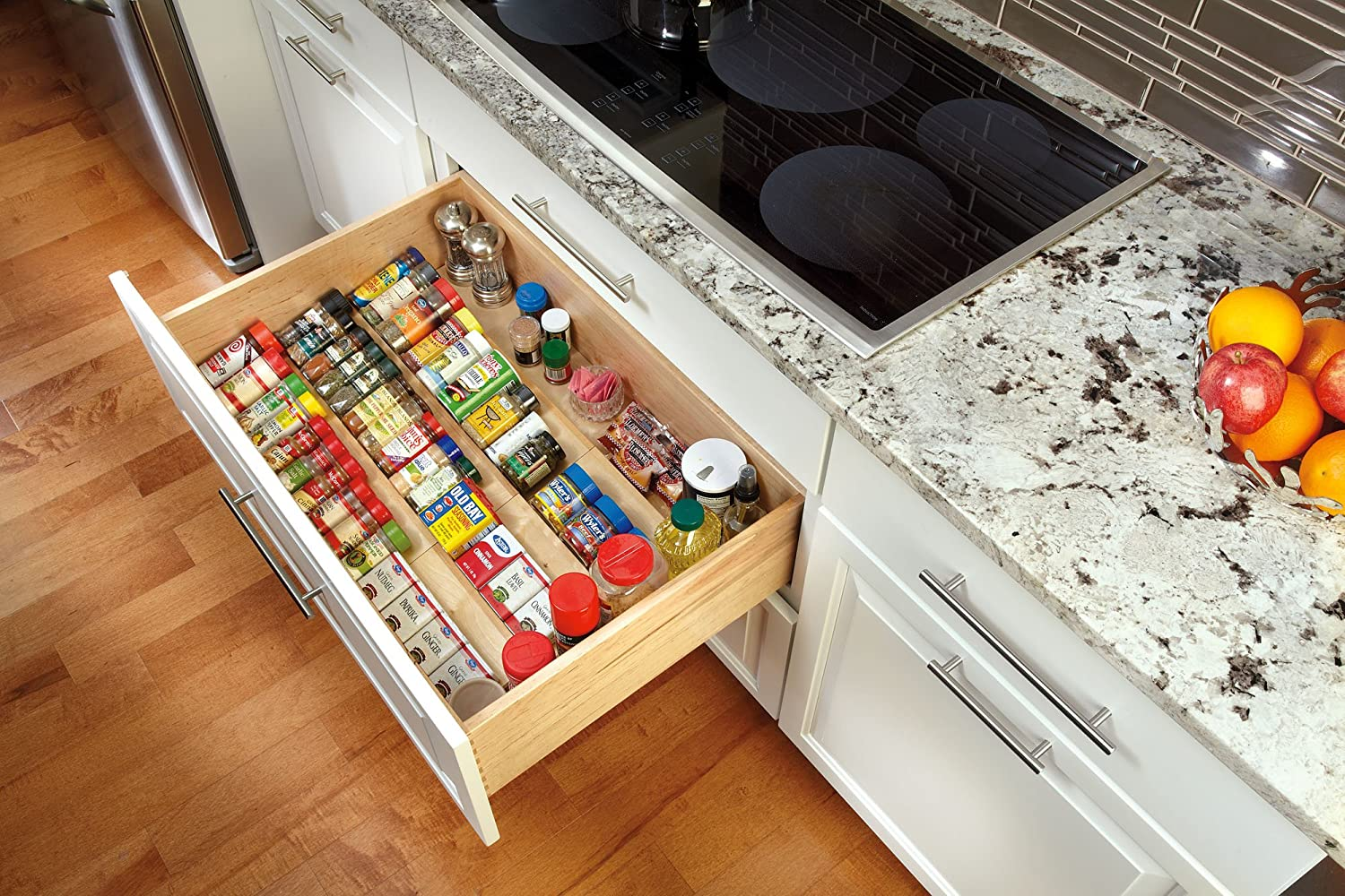 Kitchen drawer inserts for spices - Amazon Com Rev A Shelf 4sdi 24 X Large Wood Spice Drawer Insert
