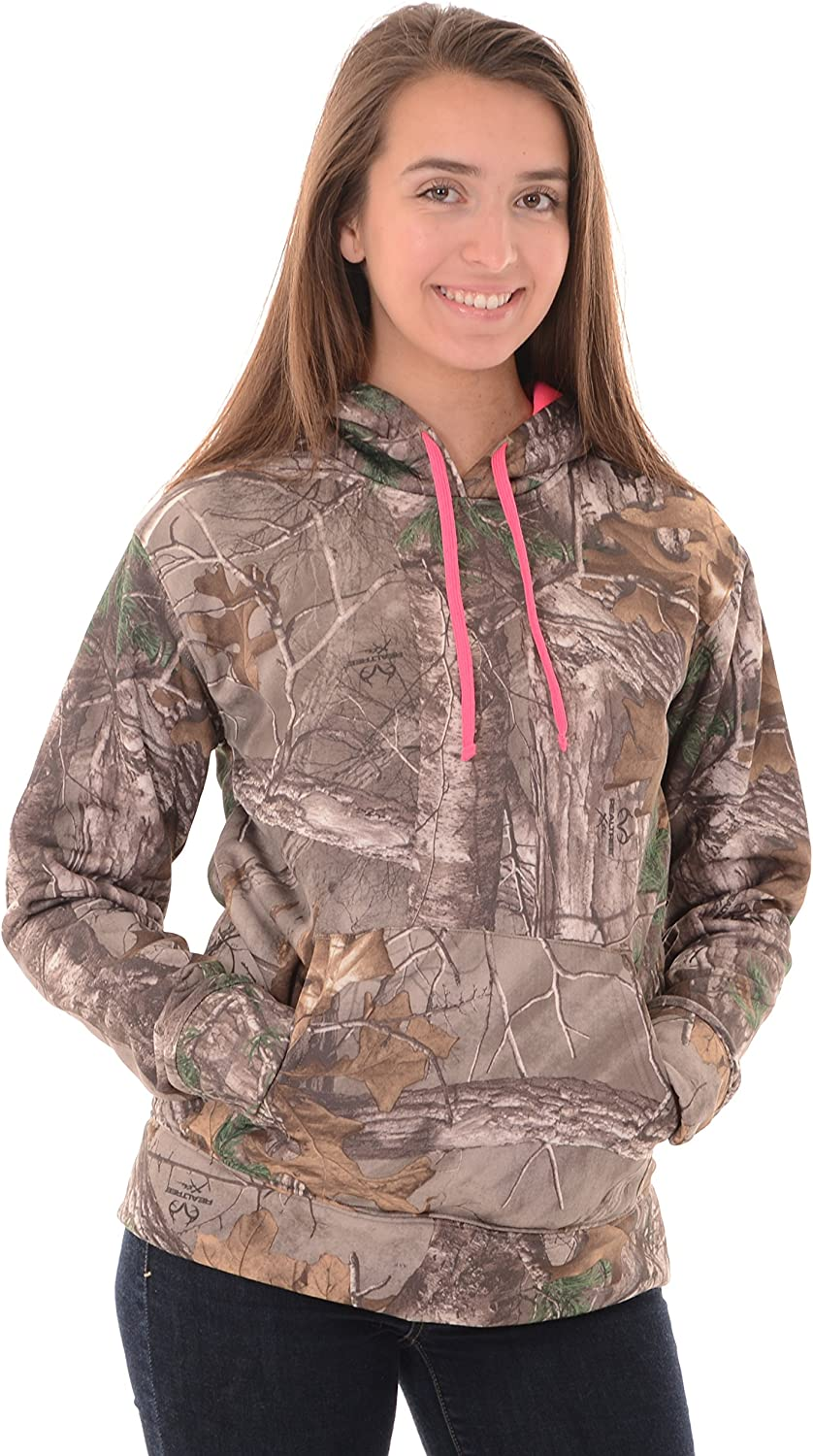 Realtree Womens Performance Camo Pullover Fleece