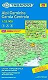 Karnische Alpen: Wanderkarte Tabacco 09. 1:25000 (Cartes Topograh)
