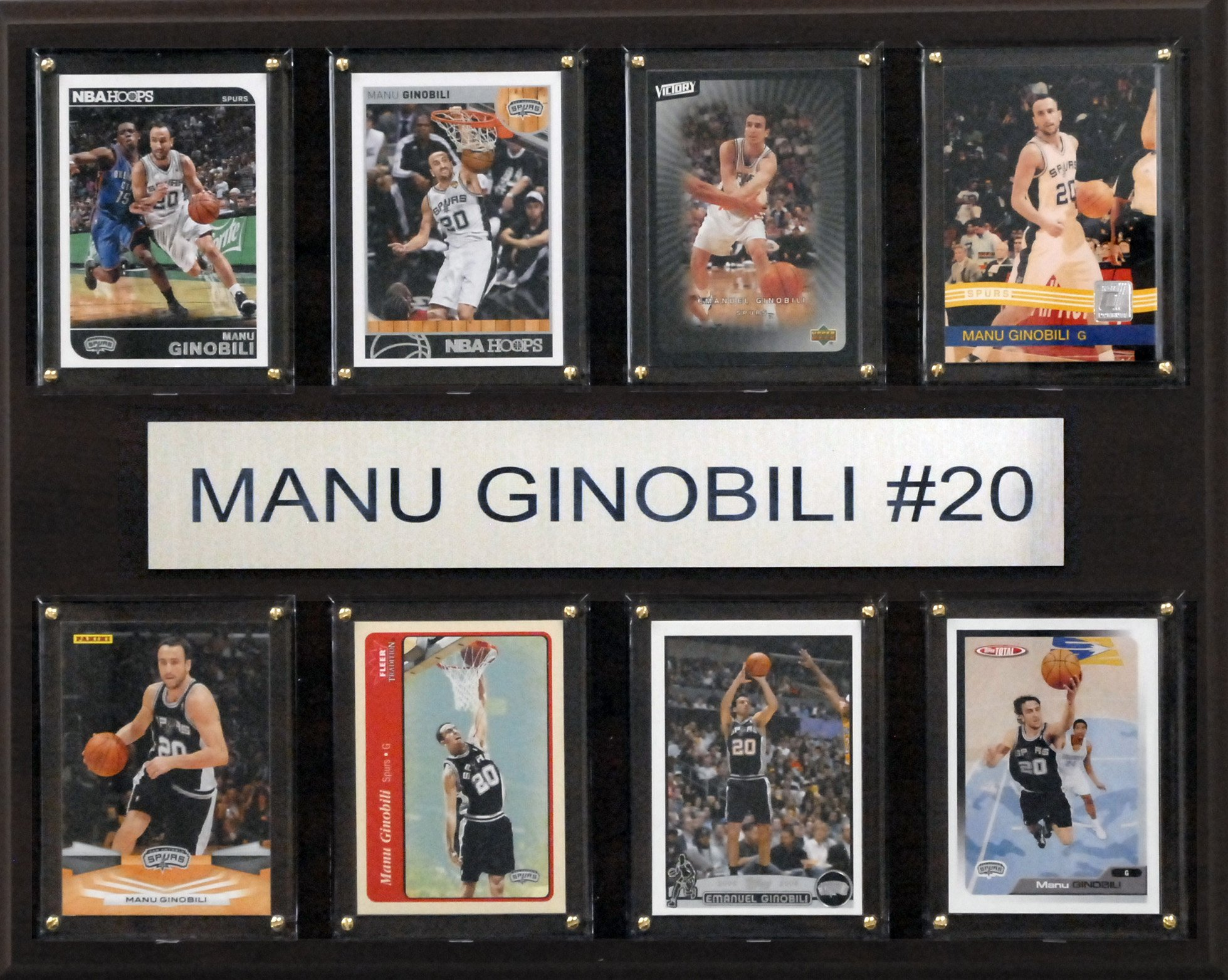 NBA San Antonio Spurs Manu Ginobili 8-Card Plaque, 12 x 15-Inch by C&I Collectables