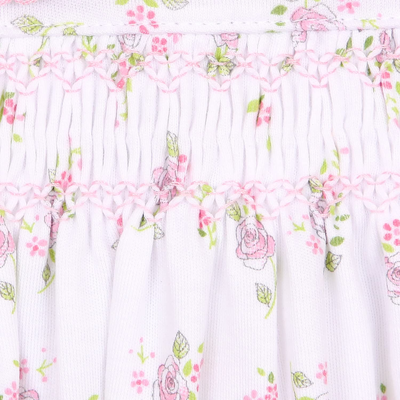 Magnolia Baby Baby Girl Hopes Rose Spring Printed Smocked Hat Pink