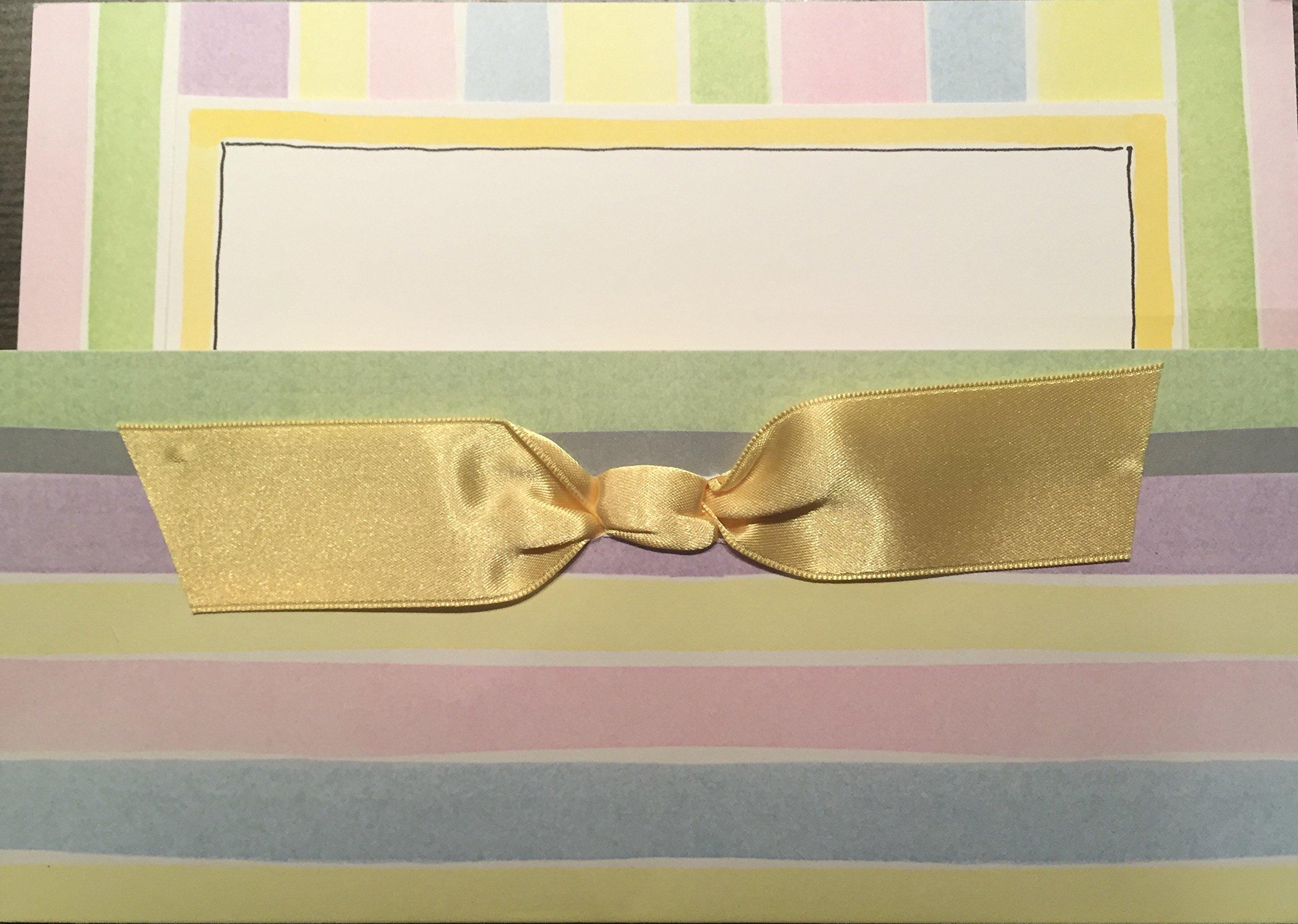 Pastel Pocket Birth or Baptism Announcement