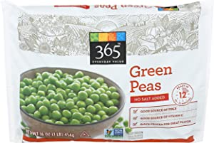 365 Everyday Value, Green Peas No Salt Added, 16 oz, (Frozen)