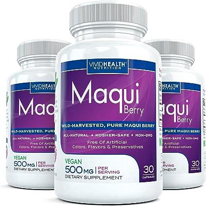 Amazon Com Pure Maqui Berry 3 Bottles Extract Capsules