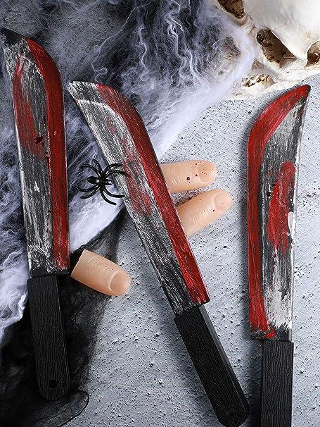 Amazon.com: Gejoy - 3 cuchillos de plástico para Halloween ...