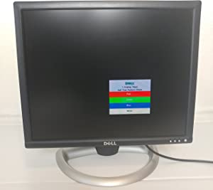 "Dell 1901FP - Flat Panel Display - TFT - 19"" - 1280 x 1024 - 0.29 mm - DVI, VGA (HD-15) - Silver on Black"