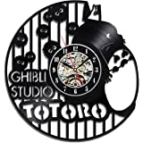 Ghibli Studio Anime Art Home Decor Vinyl Record Clock Room Design