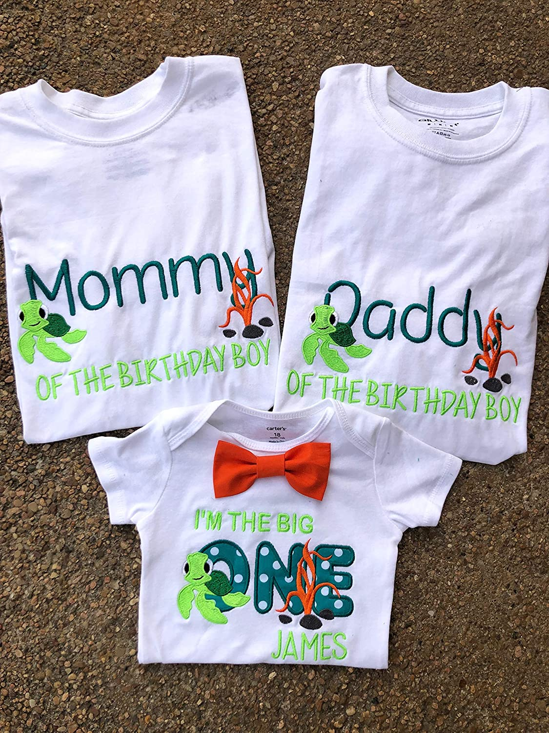 Family Birthday Shirts Mom And Dad Matching Squirt First Turtle Im The Big One Cake