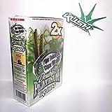 Double Platinum Wraps 2x Kush Flavor Box of 25 Packs - Limited Edition Kush Sticker