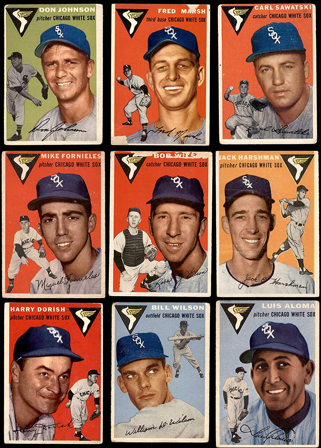 1954 Topps Chicago White Sox Team Set Chicago White Sox (Baseball Set) Dean's Cards 2 - GOOD White Sox 91m8gOMbnILSL1500_