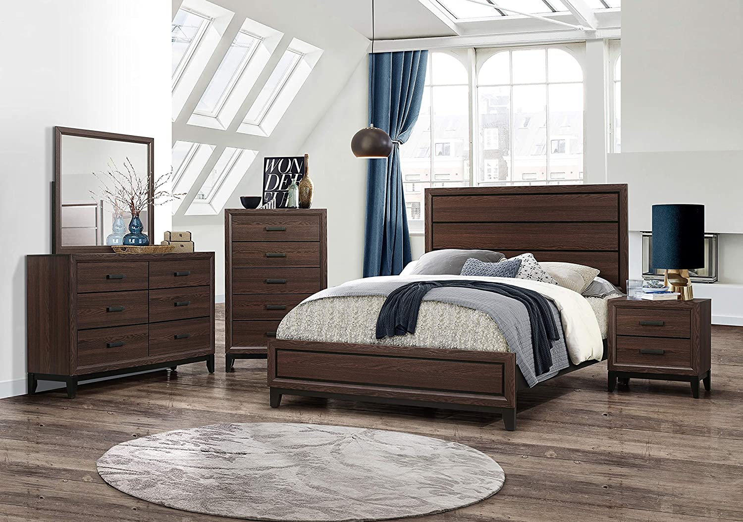 Amazon.com: Kings Brand Furniture – Athens 6-Piece King Size Bedroom ...