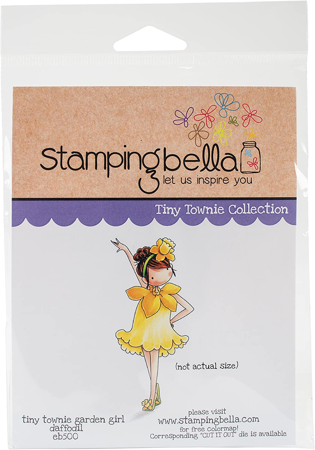 Stamping Bella EB500 Cling Stamps-Garden Girl Daffodil