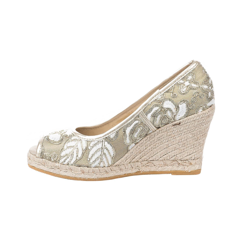 AEDO Alpargata Mujer, Dorado (Dorado), 40 EU: Amazon.es: Zapatos y complementos