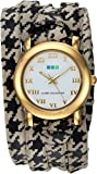 La Mer Collections Women's Quartz Metal and Leather Casual WatchMulti Color (Model: LMSATURN150)