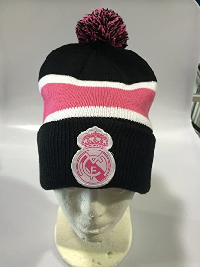 REAL MADRID FC CUFF BLACK/PINK BEANIE SELECCION MEXICANA (OSFM)