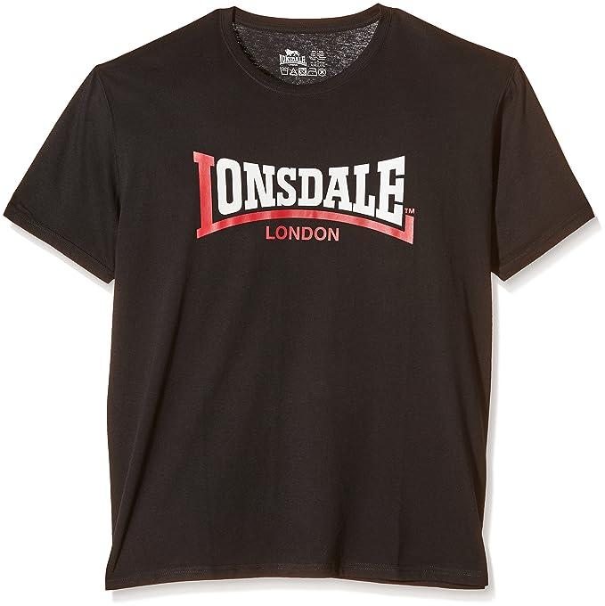 1 opinioni per Lonsdale Men's Two Tone T-Shirt a Manica Corta da Uomo, Colore Nero (Black),