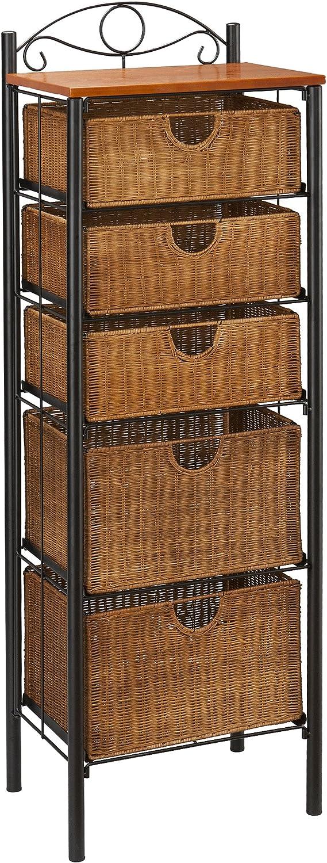 rattan basket small from storage box.htm amazon com 5 drawer storage unit w wicker baskets versatile  5 drawer storage unit w wicker baskets