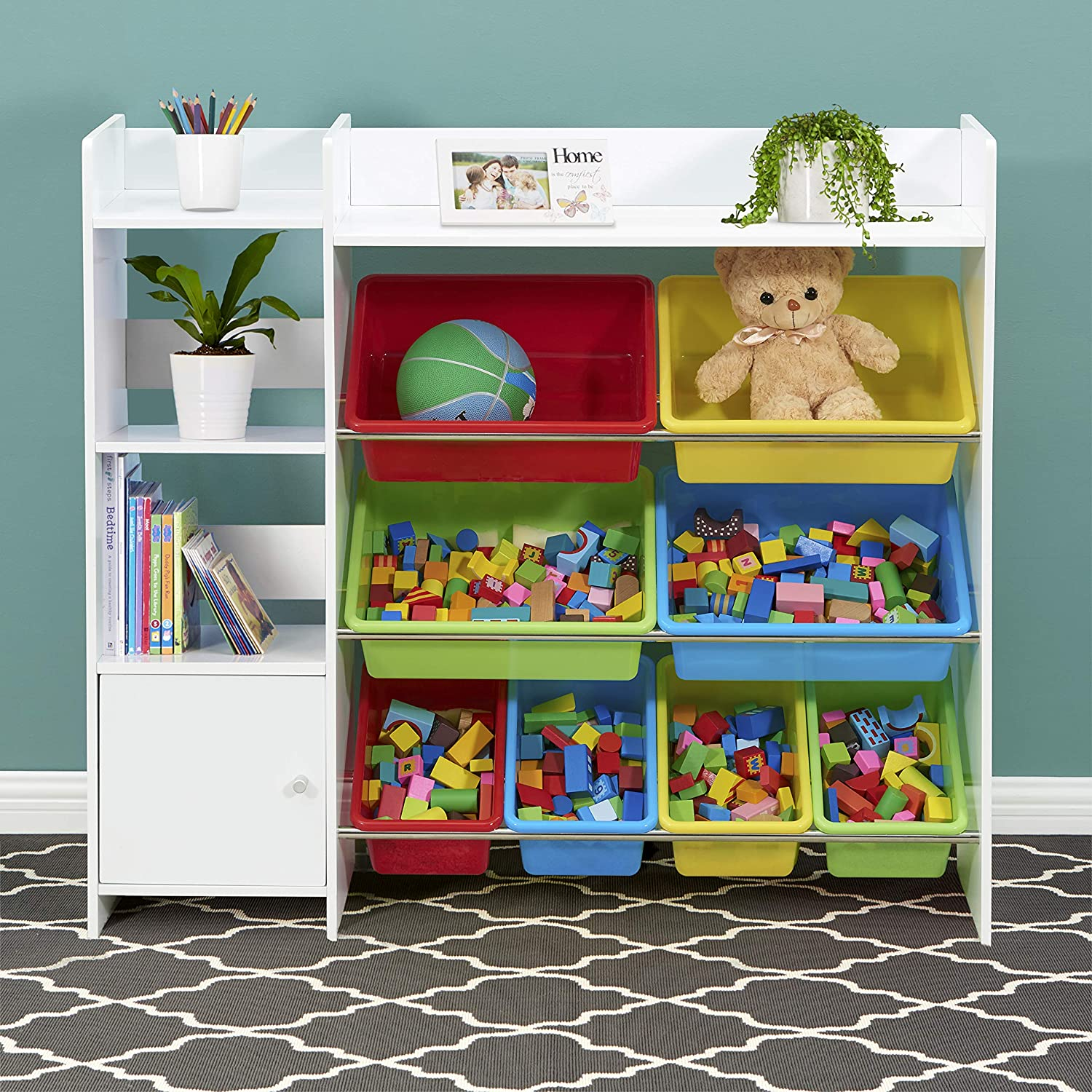 Amazon.com: Sturdis Kids Toy Storage Organizer with Kids Toy Shelf