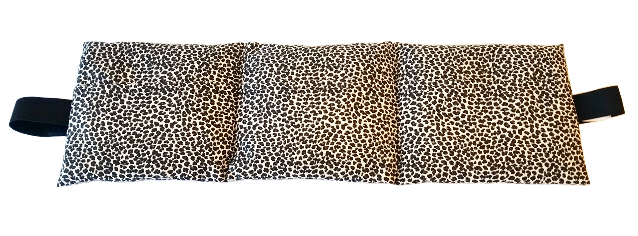 Heating Pad. Natural Heat Therapy For Lower Back, Neck, Shoulders, Cramps. Pain and Stress relief Heated Wrap. (Dots)