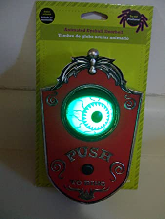 halloween prop gemmy animated eyeball doorbell - Www Gemmy Com Halloween