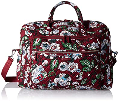 Amazon.com  Vera Bradley Iconic Grand Weekender Travel Bag ... 977bd9ca1f93e