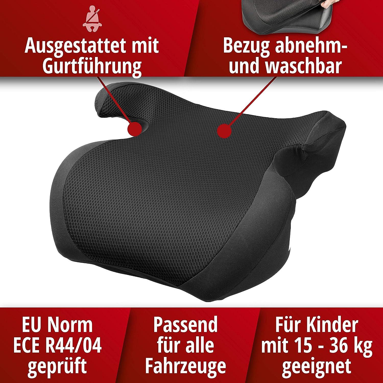 Kindersitz Erh/öhung Lino schwarz//schwarz