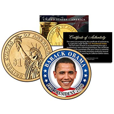 BARACK OBAMA FOR PRESIDENT 2008 Rare Campaign Issue Presidential $1 Dollar Coin: Toys & Games