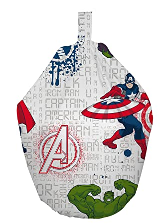 Cool Marvel Avengers Bean Bag Fabric White 52 X 38 X 52 Cm Gmtry Best Dining Table And Chair Ideas Images Gmtryco