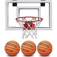 Gosports - Aro para Puerta de Baloncesto con 3 balones de Baloncesto y Bomba