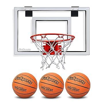 GoSports Basketball Door Hoop with 3 Premium Basketballs \u0026 Pump - PRO Size