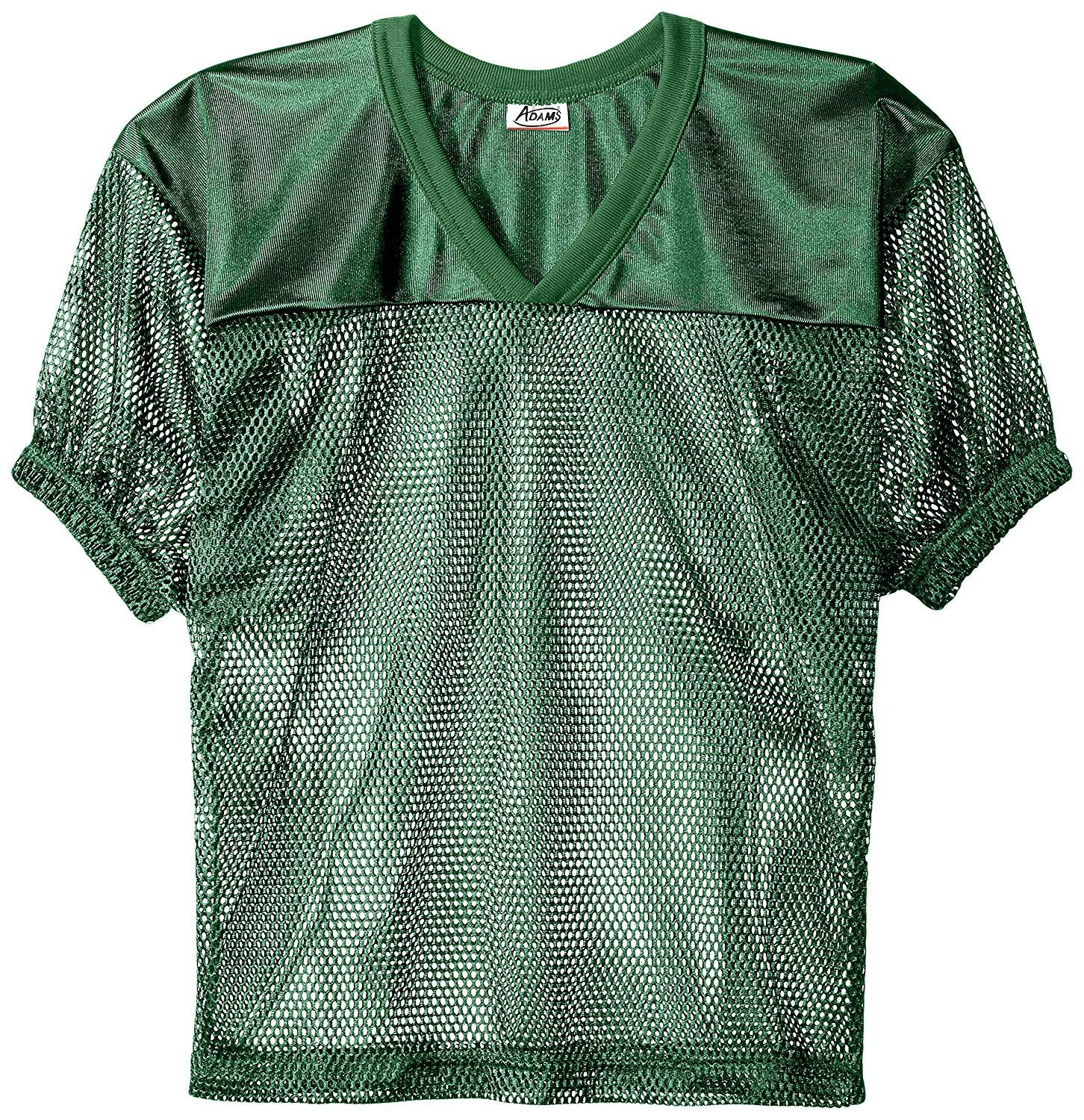 Adams USA FB Youth Jersey with Elastic Sleeve, Dark Green, S