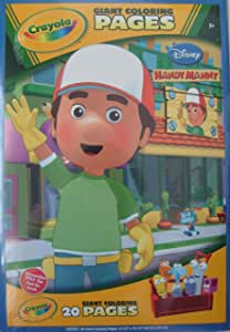 Amazon.com: Crayola Giant Coloring Pages Handy Manny: Toys ...