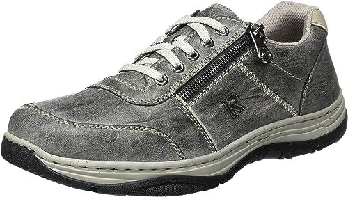 Rieker Herren Sneakers Turnschuhe Freizeitschuhe 16300-46 Grau Graphit Neu