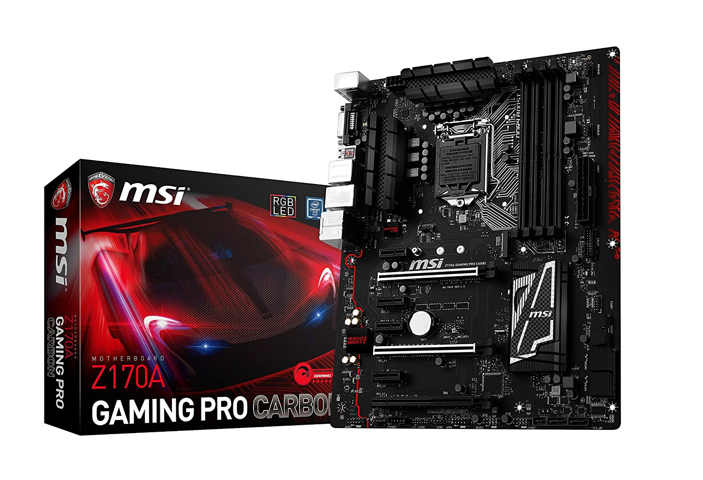MSI Performance Gaming Intel Z170A LGA 1151 DDR4 USB 3.1 ATX Motherboard (Z170A Gaming Pro Carbon)