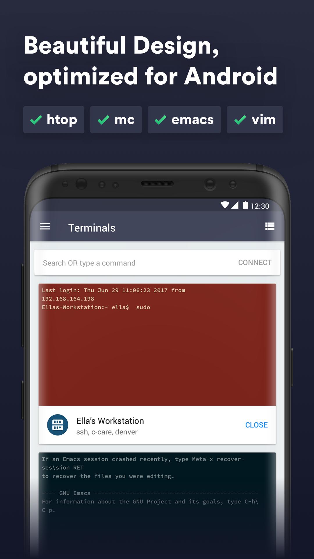 Termius - Telnet and SSH client/shell/terminal